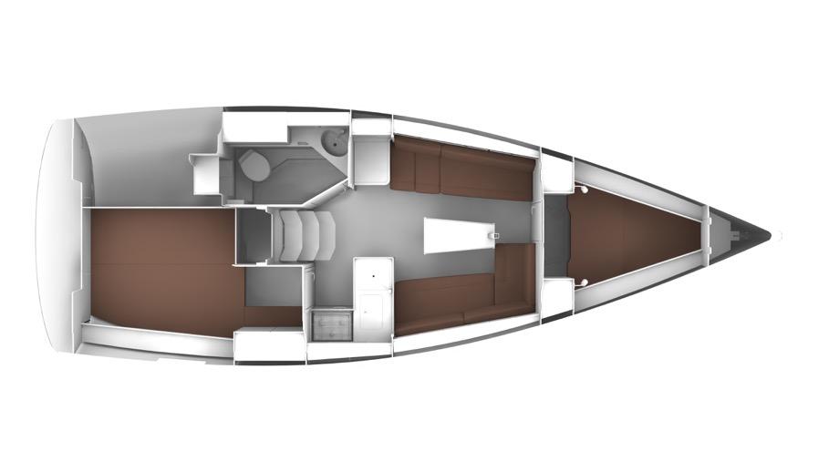 Bavaria 33 layout BURIN, marina Punat